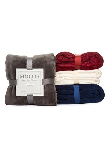 Mollia Soft Touch Tek Kişilik Battaniye Antrasit